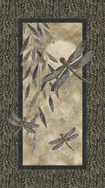 Shimmer Dragonfly Moon Panel (24 x wof)