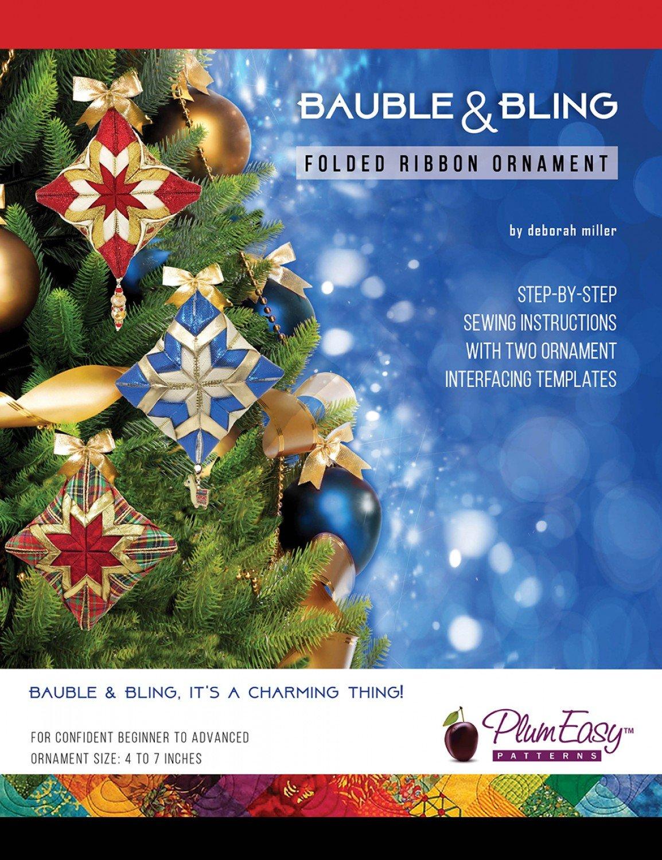 Bauble & Bling Folded Ribbon Ornament