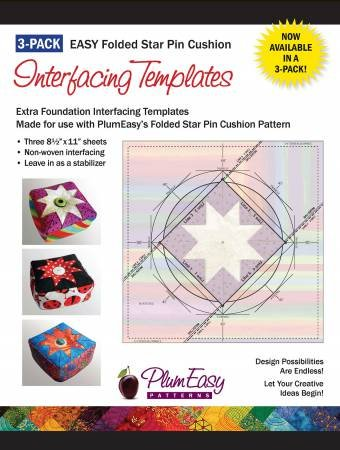 Pin Cushion Interfacing Templates 3-pack