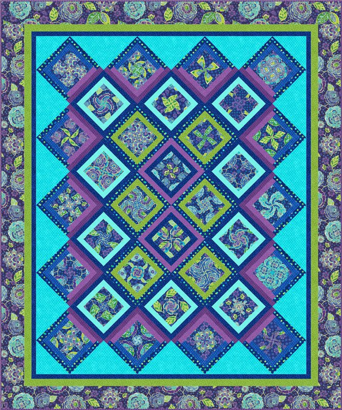 4-Patch Party Kaleidoscope Quilt Kit