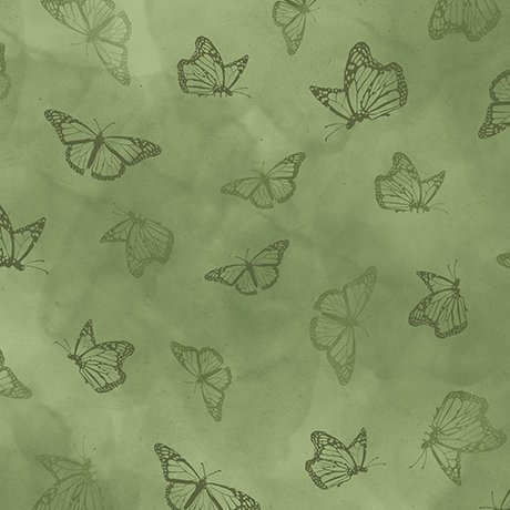 zz Serenity Prayer - Butterfly Toile - Green