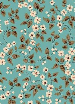 Bethel - Teal Floral & Leaves