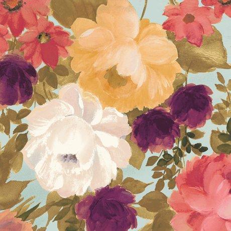 Lilian - Aqua Large Floral
