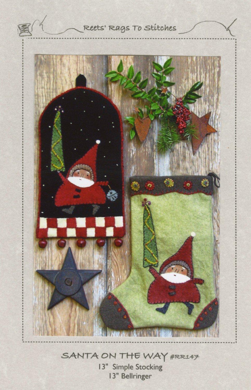 Santa on the Way Pattern