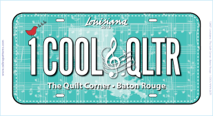 Row by Row 2018 - 1 Cool Qltr License Plate