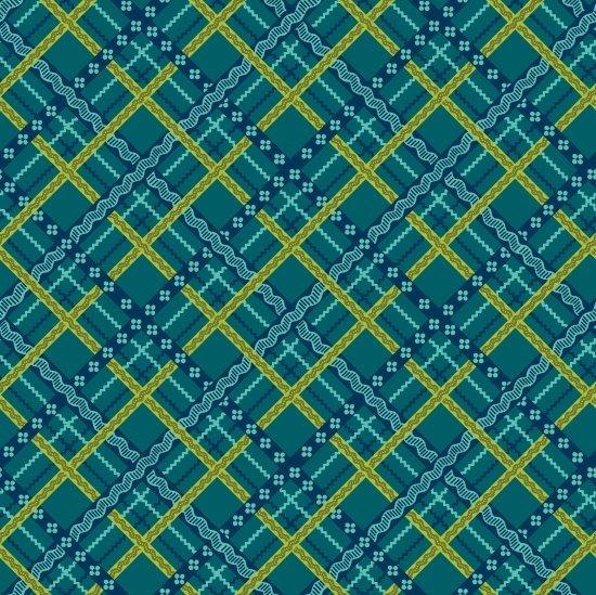 Pieceful Gatherings-Blue Green Lattice