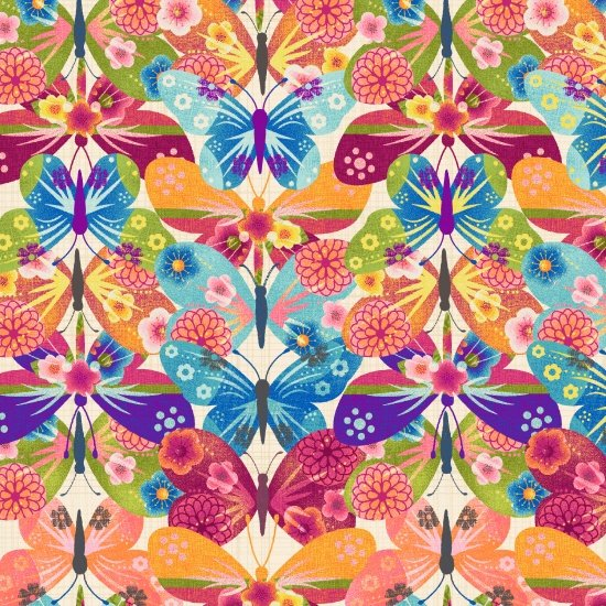 Dancing Wings - Butterflies Collage
