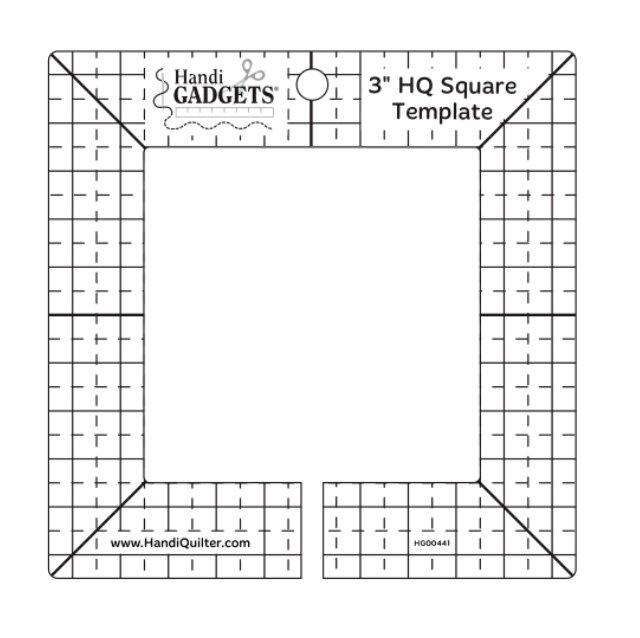 Ruler 3 inch HQ Square Template