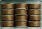 #618 Medium Brown - Prewound M Style Bobbins - 1 dozen