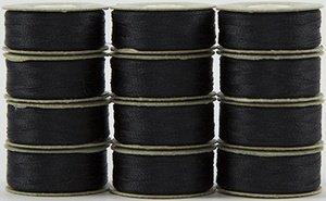 #649 Dark Gray - Prewound M Style Bobbins - 1 dozen
