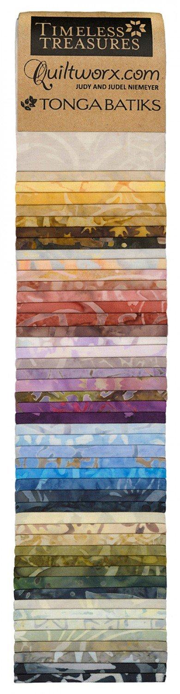 Tonga Batik Cobblestone 2-1/2in Strips