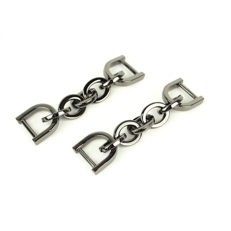 Chain Strap Connectors - 2pk Gun Metal