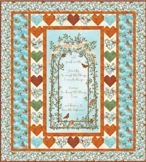 Serenity Prayer Quilt Kit Blue<br>Reg. Price $87.50<br><b>CLEARANCE PRICE 40% OFF</b>
