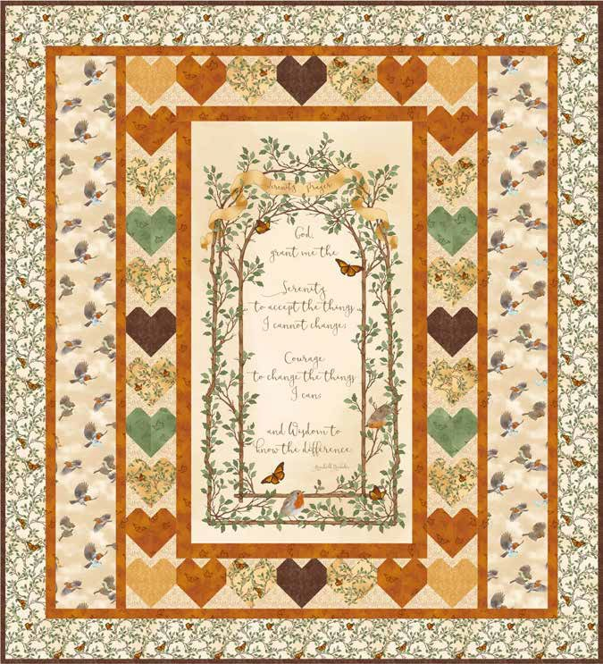 Serenity Prayer Quilt Kit Cream<br>Reg. Price $87.50<br><b>CLEARANCE PRICE 40% OFF</b>