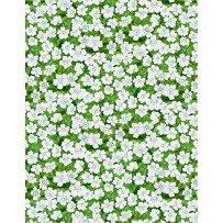 Garden Gathering - Small Flowers Green/White