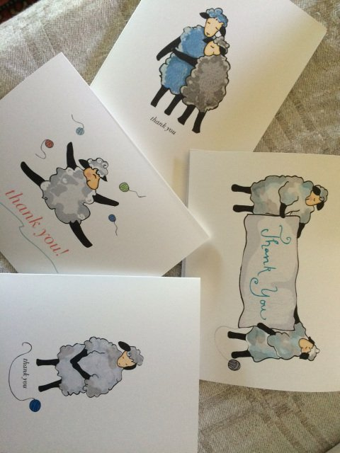 Knit Baah Purl Thank You Boxed Cards