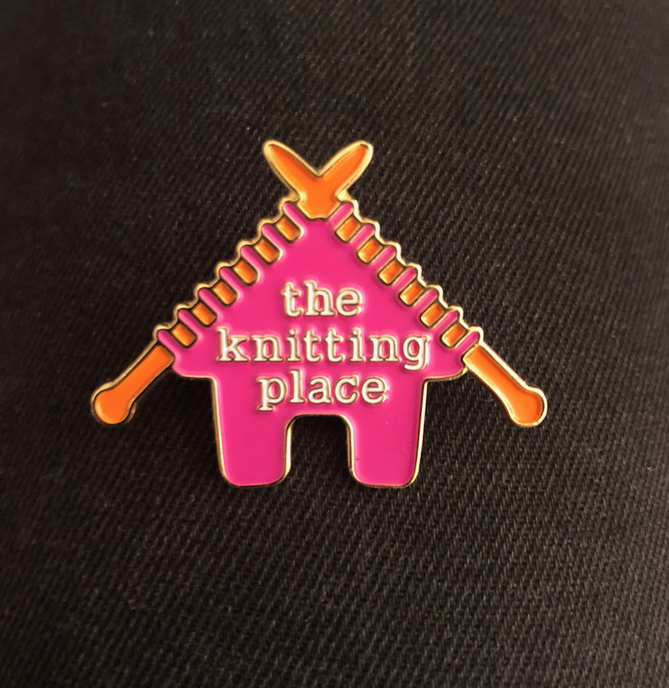 The Knitting Place Pin