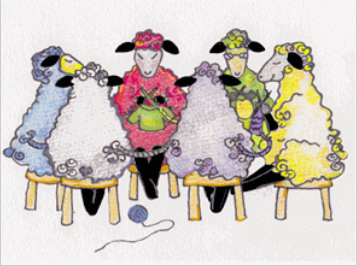 Knit Baah Purl Greeting Cards