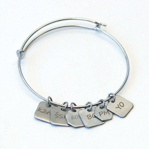 Skacel Stitch Marker Charm Bracelet