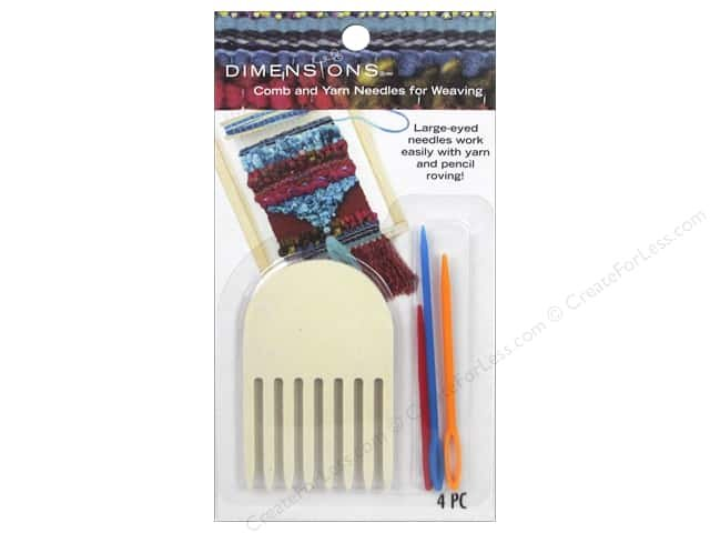 Comb and Yarn Needles for Weaving