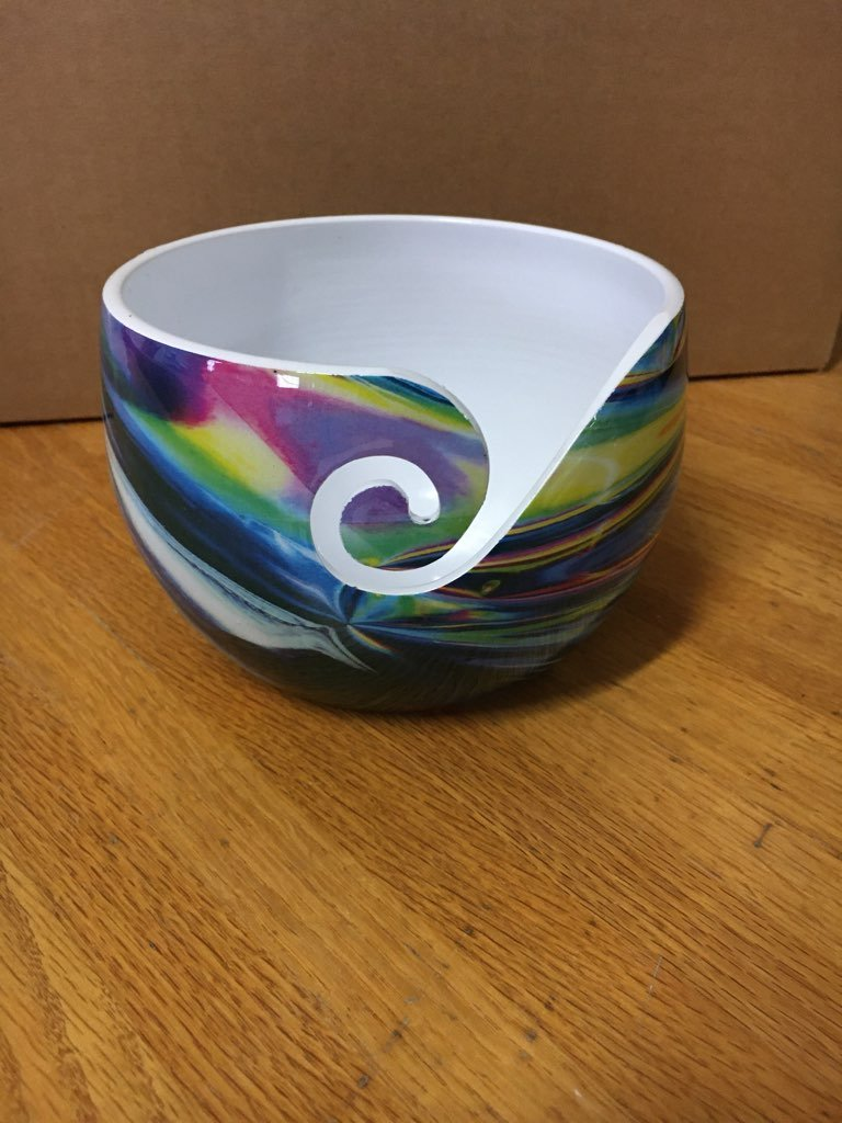 Rainbow Swirl Yarn Bowl