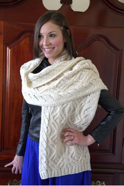 Homestead 2878 Cabled Stole
