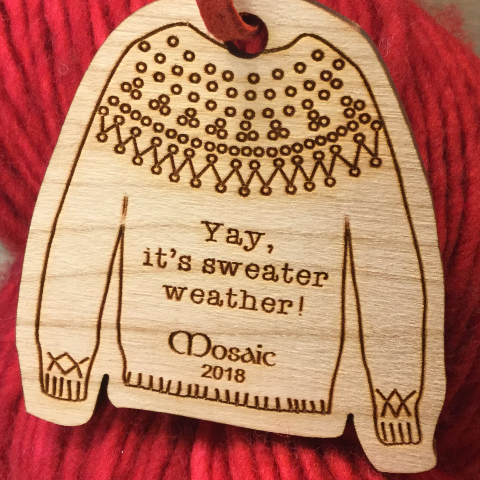 Custom Sweater Ornament