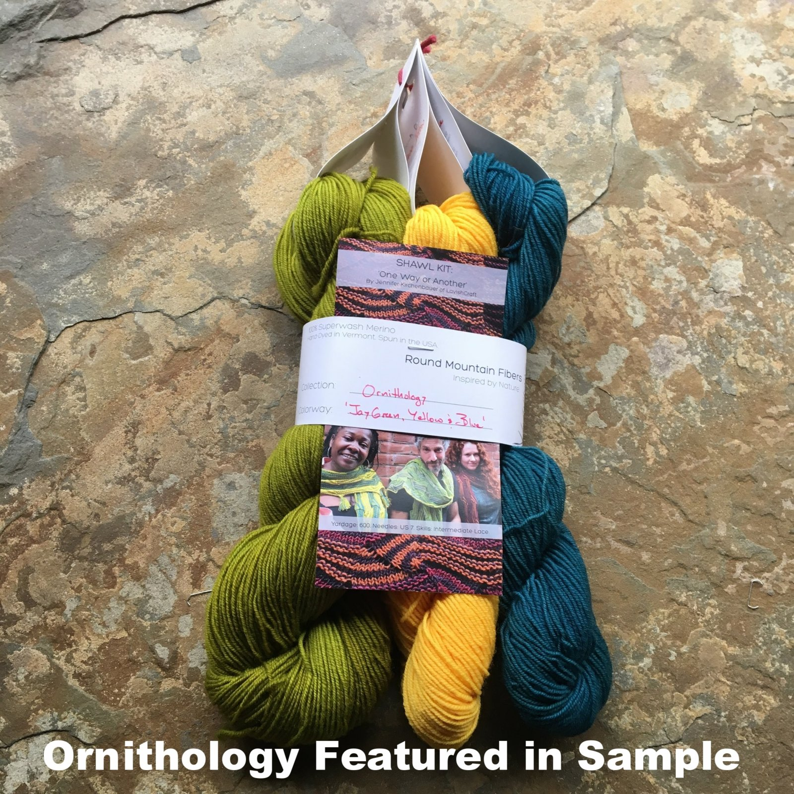 One Way or Another Shawl Kit / Spruce Fingering