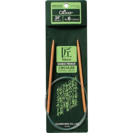 24 Takumi Bamboo Circular Knitting Needle