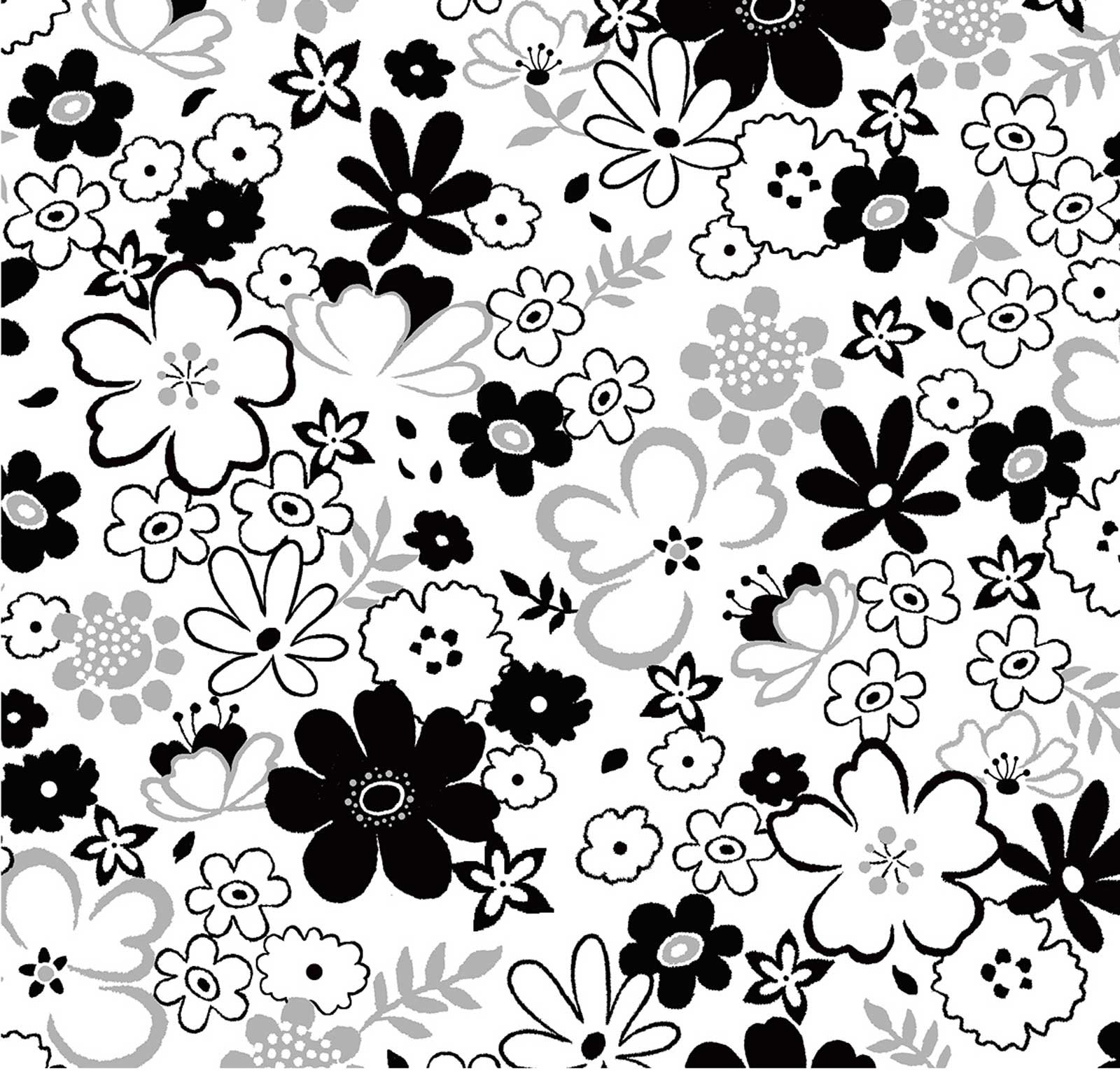 Floral Silver Metallic