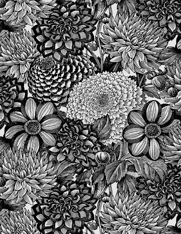 MM20 Essentials Floral Toile Black&White
