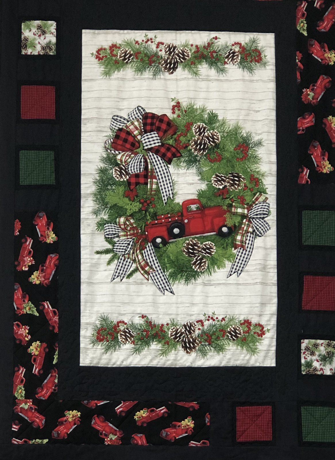 Red Truck Panel Quilt Kit with Pattern