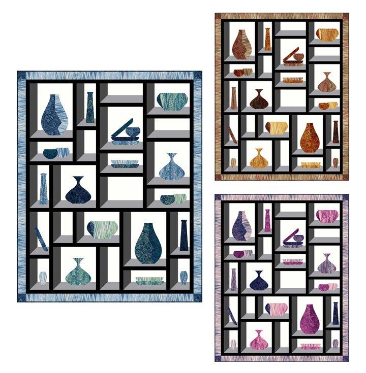 Marbleware Quilt Kit - Blueberry/Raspberry