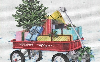 HOLIDAY FLYER by Sandra Gilmore STITCH GUIDE SGH181240