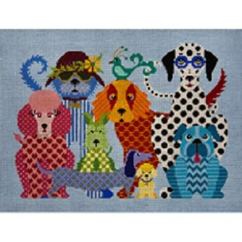 DOG GONE GOOD by JP Needlepoint STITCH GUIDE JPA352sg