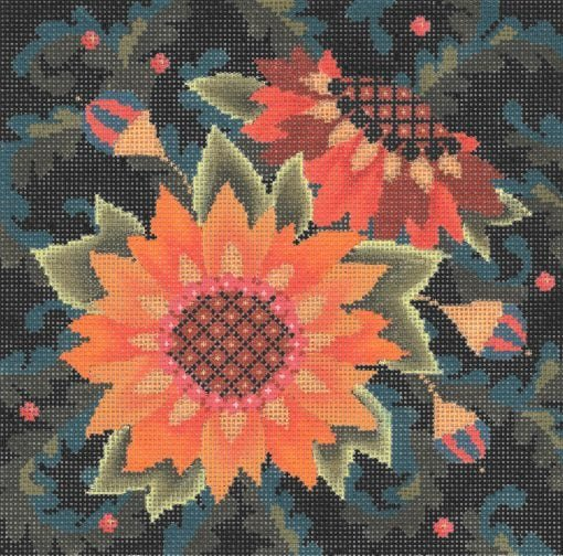 AC123 JACOBEAN SUNFLOWERS by Abigail Cecile