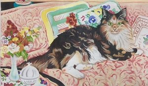 ALCC166-CAT ON SOFA BY AMANDA LAWFORD