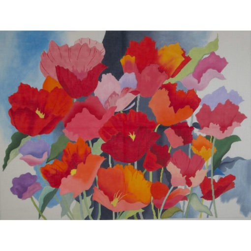 AP1708 LARGE WATERCOLOR POPPIES by Alice Peterson