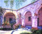 AP1838-SOUTHWEST COURTYARD by Alice Peterson