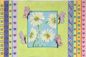 AP2054-DAISIES and BUTTERFLIES by Alice Peterson