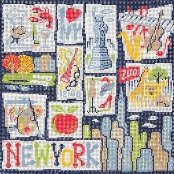 AP2644-LARGE NEW YORK RETRO by Alice Peterson