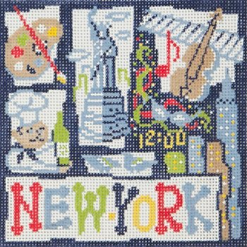 AP2645-SMALL NEW YORK RETRO by Alice Peterson