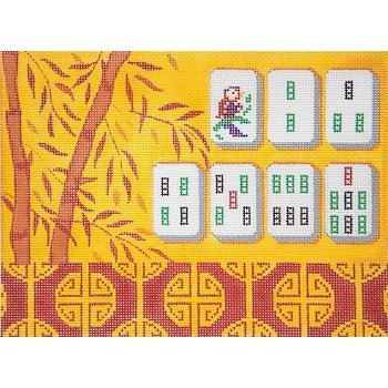 AP2778 YELLOW BAMBOO MAH JONGG by Alice Peterson