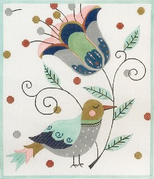 AP2857 PATCHWORK BIRD by Alice Peterson