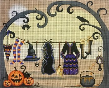 AP2902 WITCHES CLOTHESLINE HALLOWEEN by Alice Peterson
