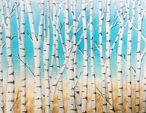 AP2917 BIRCH TREES by Alice Peterson