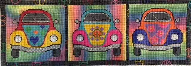 GROOVY VW BUGS by Alice Peterson AP2964 Stitch Guide