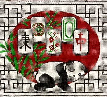 AP2975 RESTING PANDA MAH JONGG by Alice PetersoN