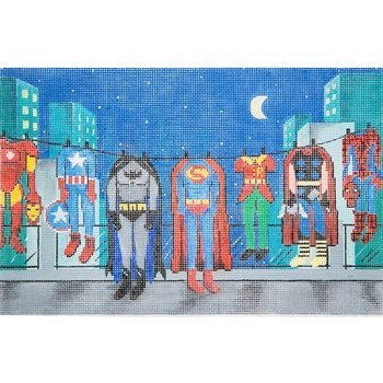 SUPERHEROES CLOTHESLINE Stitch Guide -Alice Peterson AP3686sg