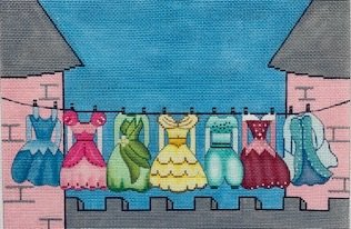 GIRLS DRESSES CLOTHESLINE by Alice Peterson STITCH GUIDE AP3688sg